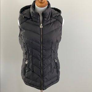Michael Kors down feather puffer vest